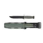 KA-BAR Kraton G Foliage Green Handled-Black Blade-Serrated Edge