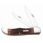 Chestnut Bone Large Folding Hunter with Sheath 7013