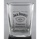 Jack Daniels Label Logo Double Old Fashioned Glass 5239