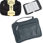 Embassy Leather Bible Cover with Hand Strap and Pen Holder LULBIBLE2