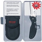 Maxam Lockback Knife with Pouch SKMX103