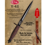 V-42 Fighting Stiletto with Leather Sheath 21994