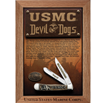 USMC Natural Bone Trapper 13185 with Shadow Box