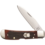 Barnboard Jigged Chestnut Bone Tribal Lock with Pocket Clip 22875 - Engravable
