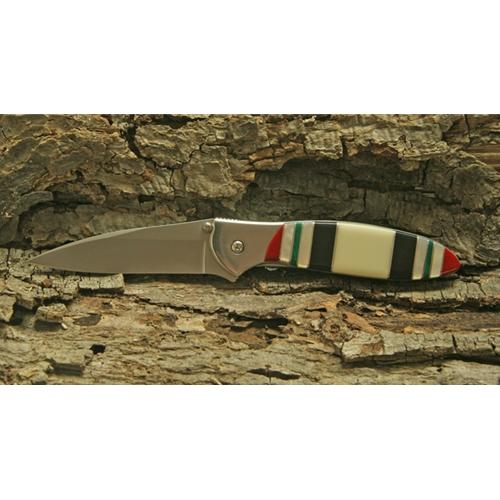 Kershaw Leek With Iraqi Freedom Ribbon Handle