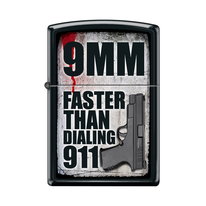 Zippo 9mm Faster Than Dialing 911 45110