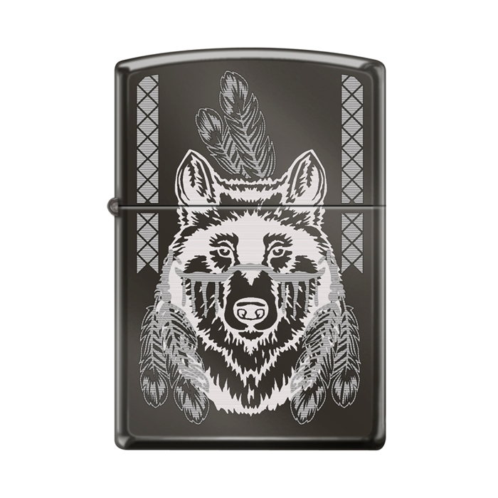 Zippo Wolf Engraved