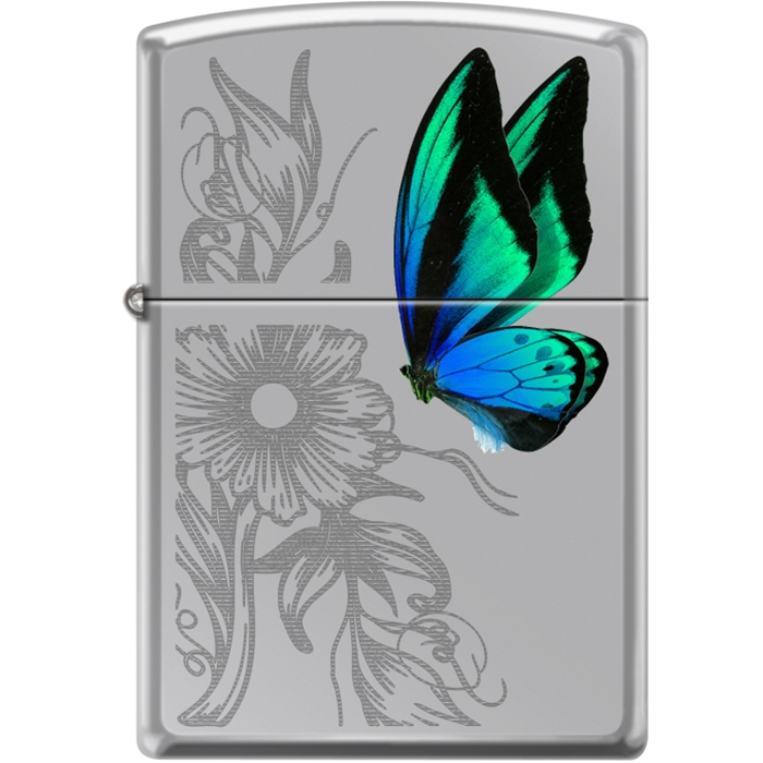 Zippo Butterfly And Flower